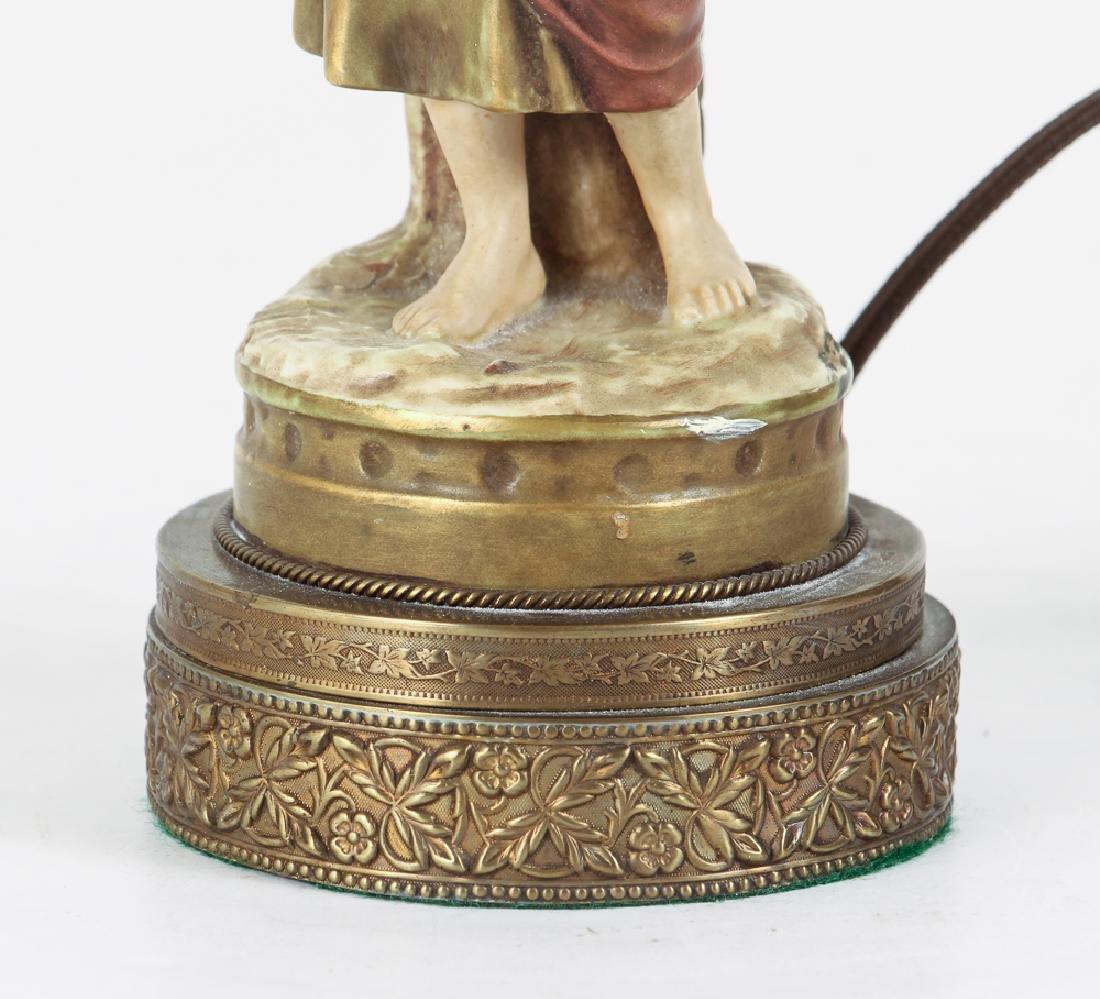 Pair Italian Peasant Porcelains As Lamps - 5
