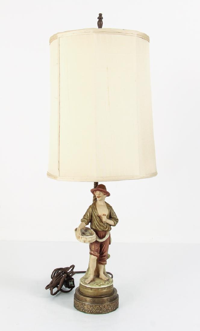 Pair Italian Peasant Porcelains As Lamps - 7