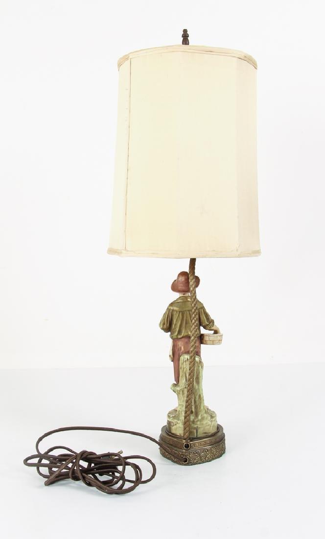 Pair Italian Peasant Porcelains As Lamps - 8