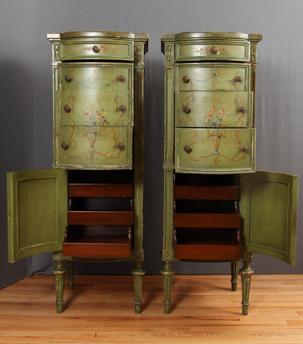 Pair of Painted Lingerie Chests - 10