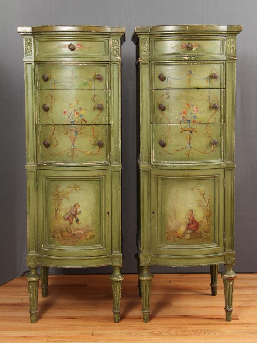 Pair of Painted Lingerie Chests