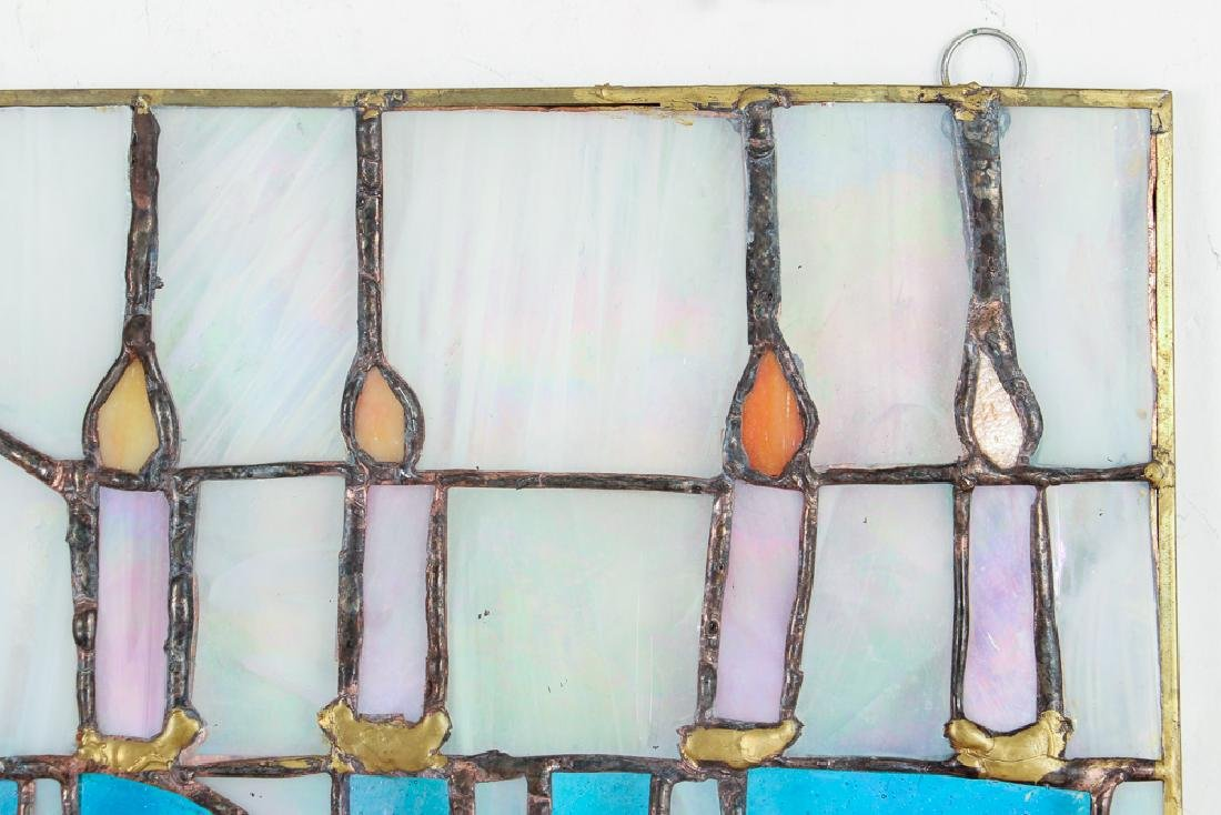 Judaica Themed Stained Glass Window - 4