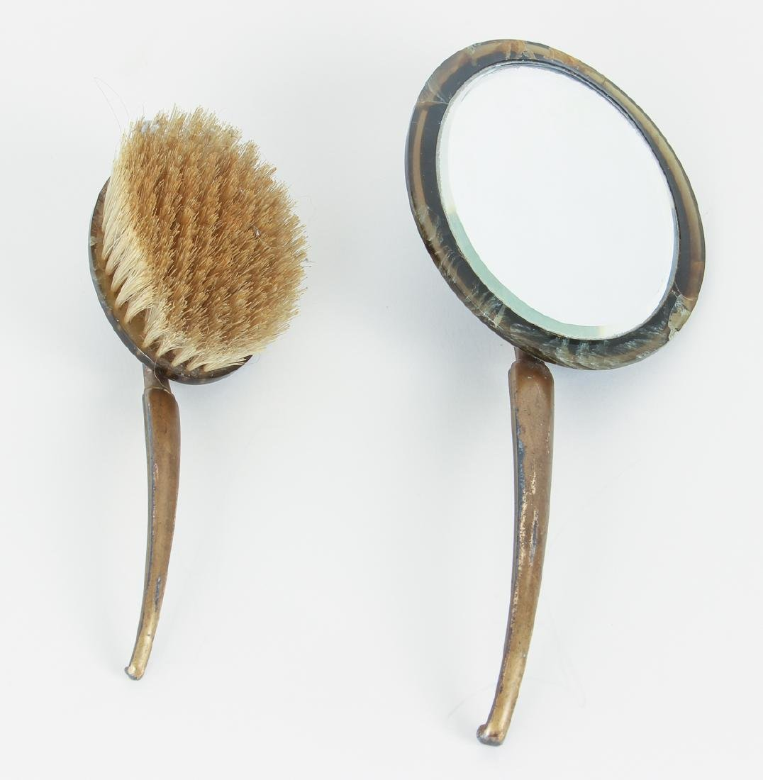 Catalin Brush and Mirror Set