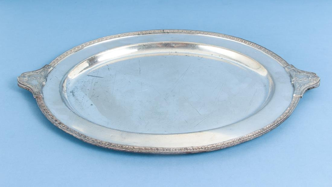Two Silverplate Trays One From Arizona Biltmore - 7