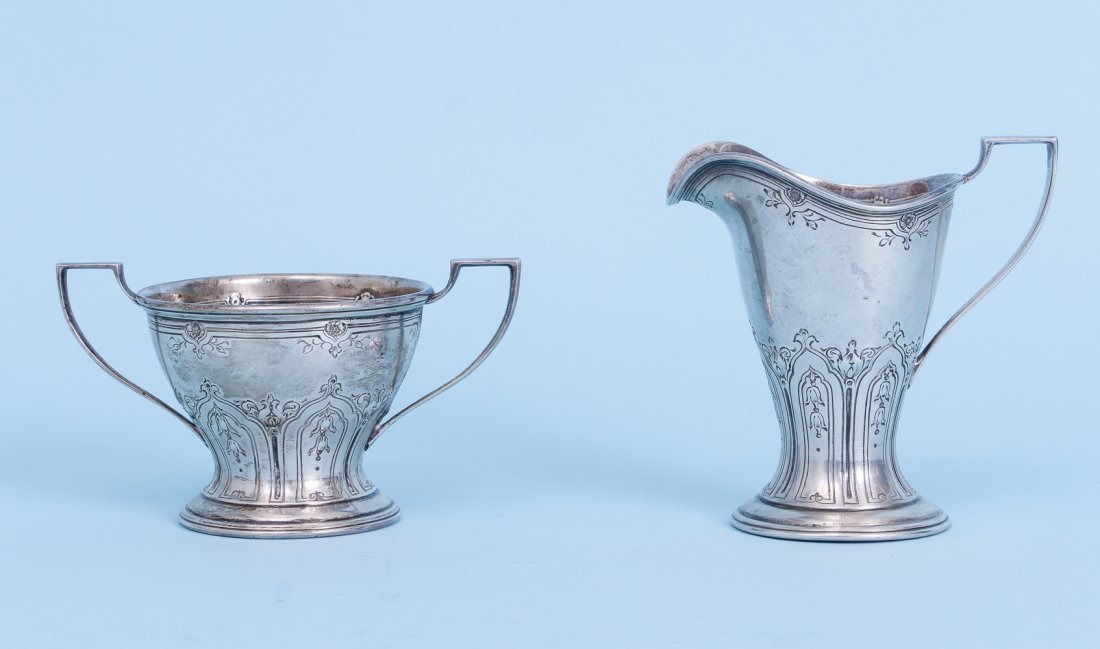 Lunt Sterling Creamer and Sugar