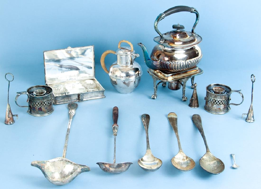 Large Group of Sheffield and Silverplate