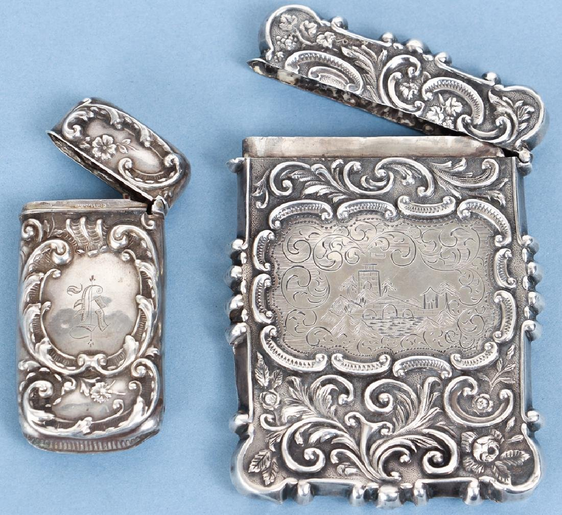 Two Sterling Silver Items inc a Card Case