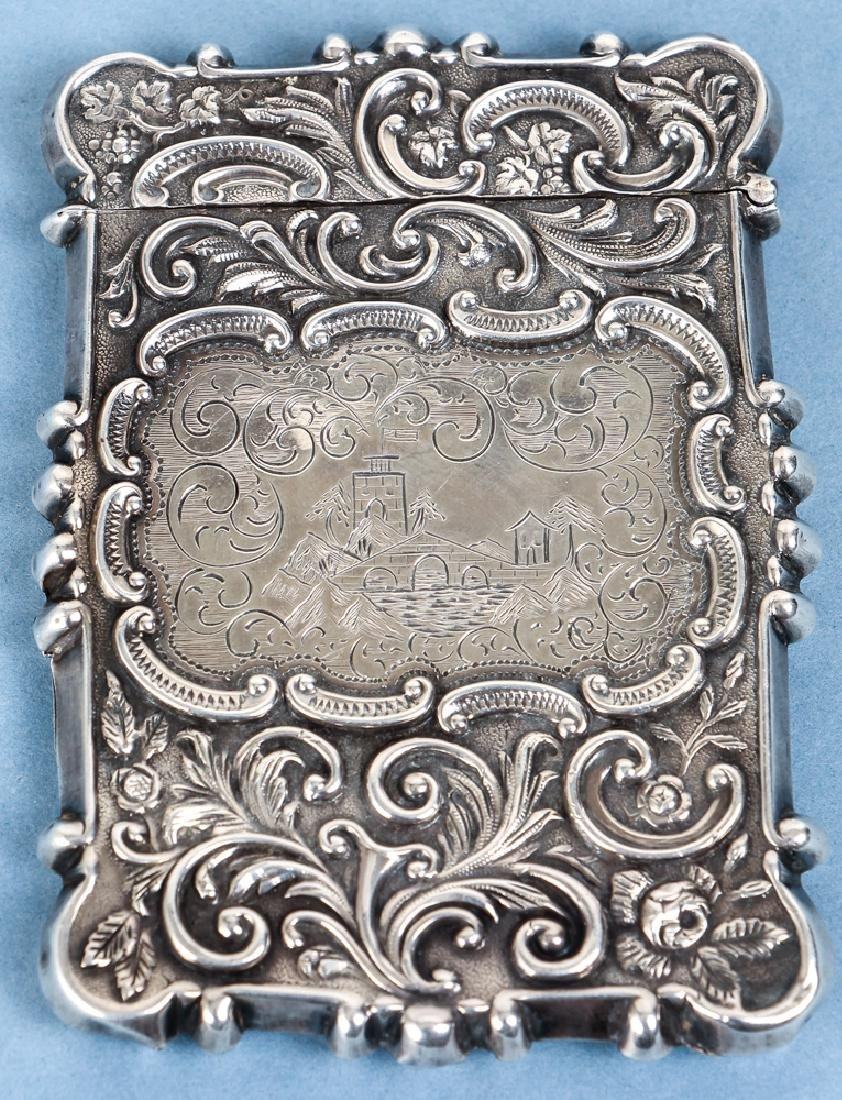 Two Sterling Silver Items inc a Card Case - 5