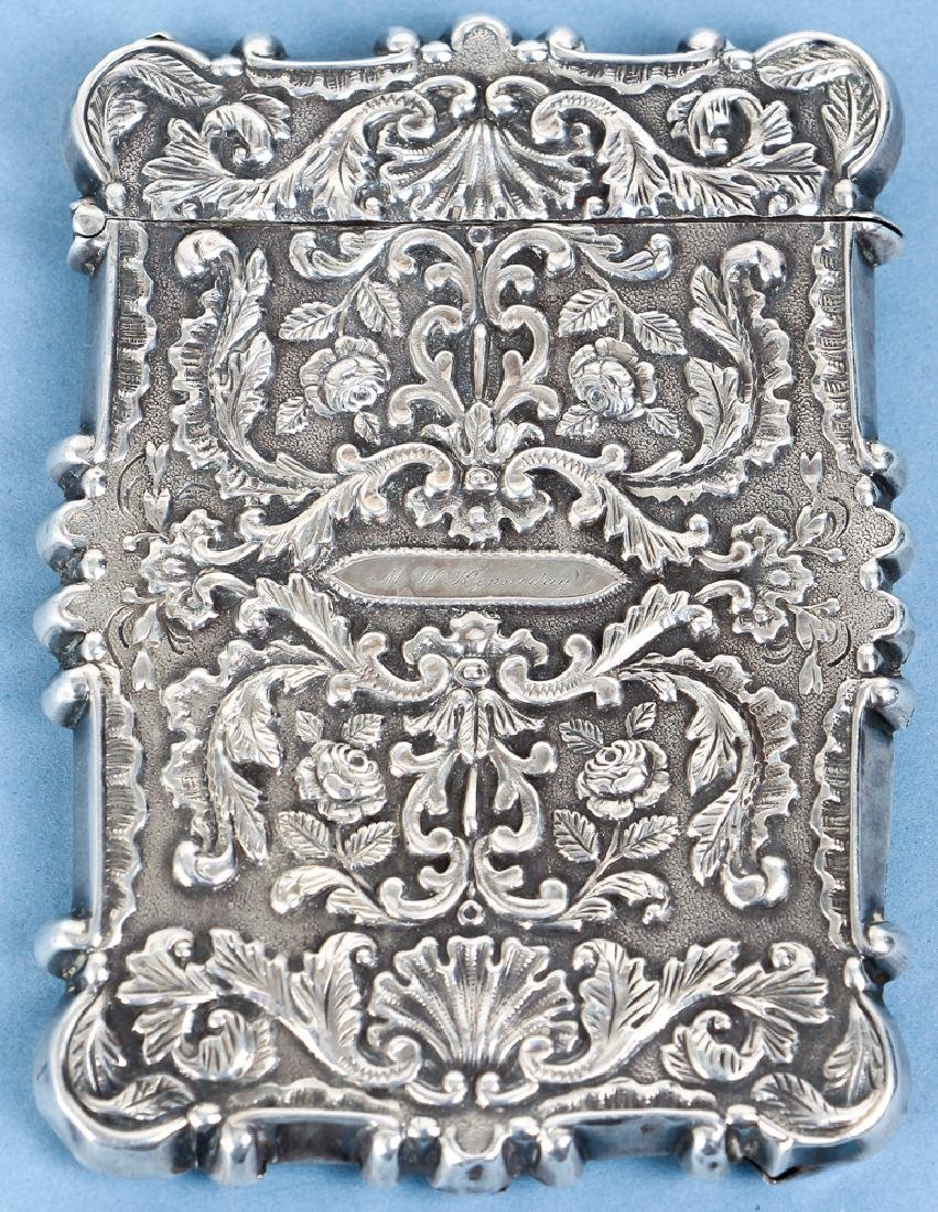 Two Sterling Silver Items inc a Card Case - 7