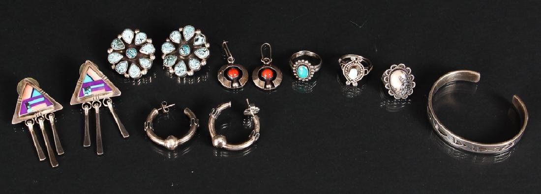 Assorted Navajo Silver Jewelry