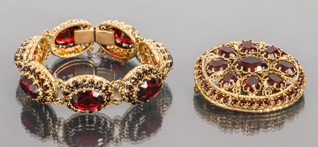 Costume Jewelry Bracelet and Pin