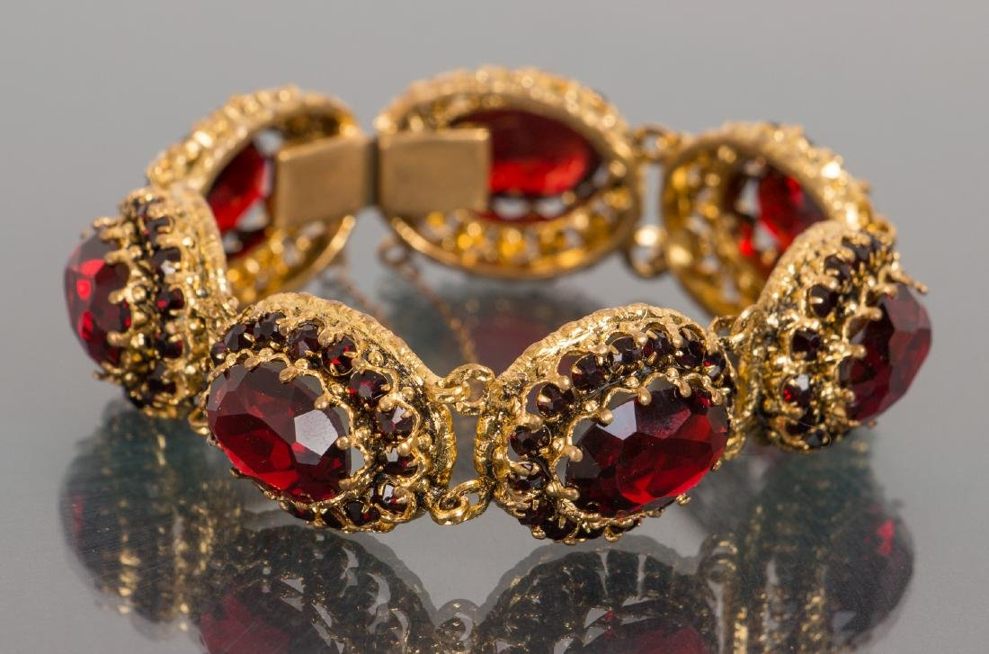 Costume Jewelry Bracelet and Pin - 2