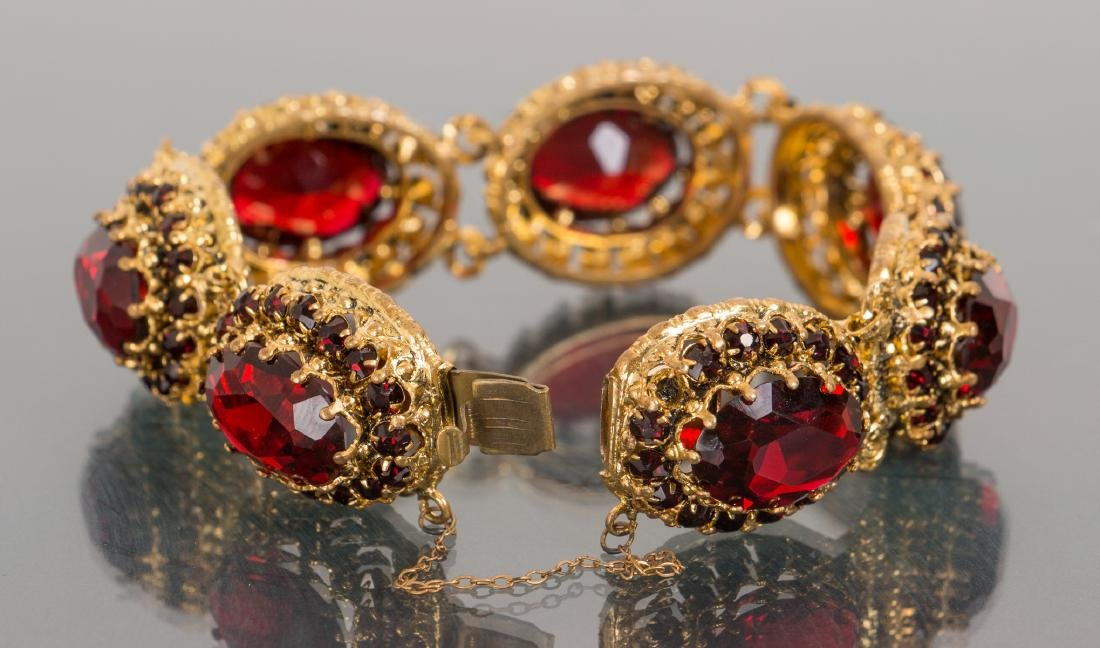 Costume Jewelry Bracelet and Pin - 3