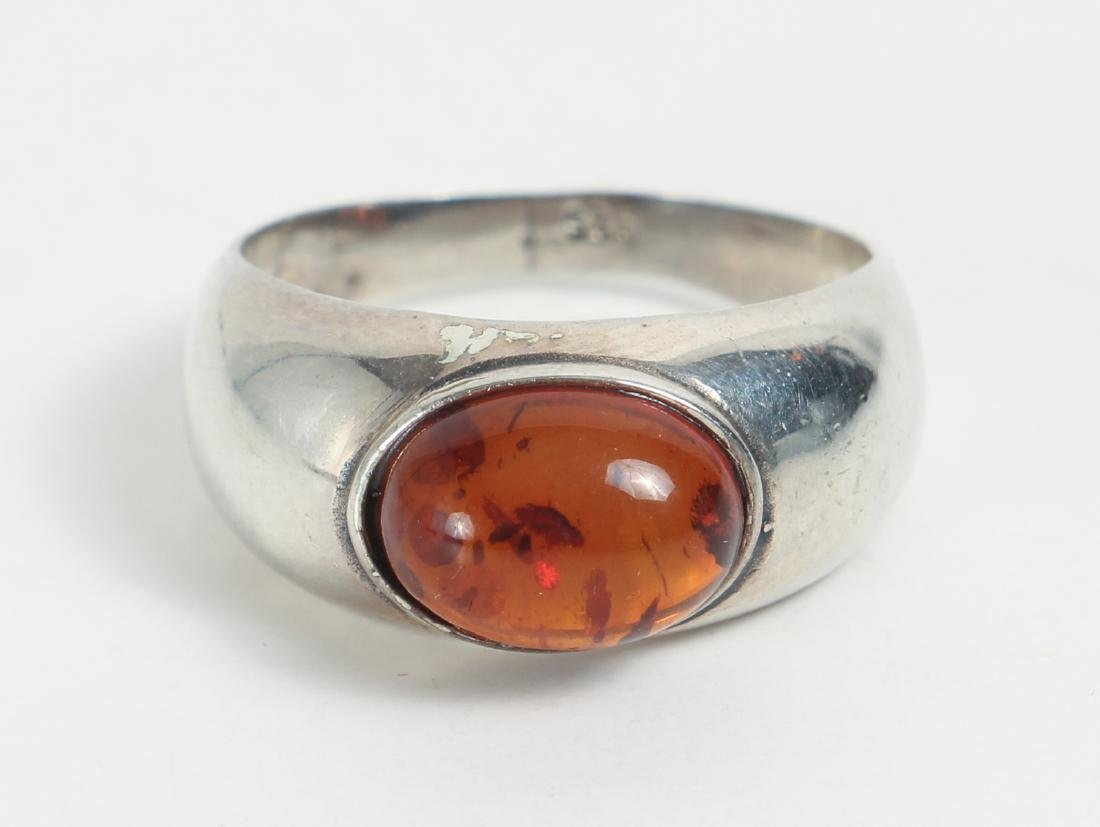 Large Group of Amber and Sterling Jewelry - 7