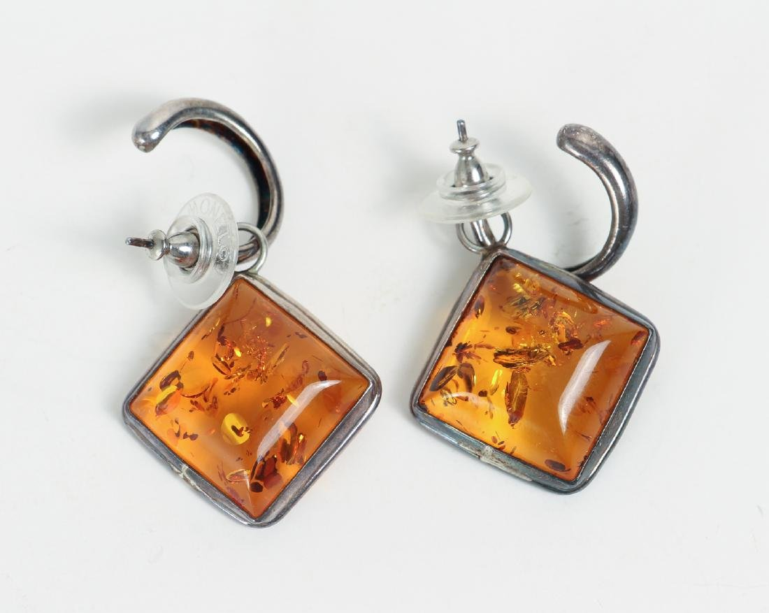 Large Group of Amber and Sterling Jewelry - 9