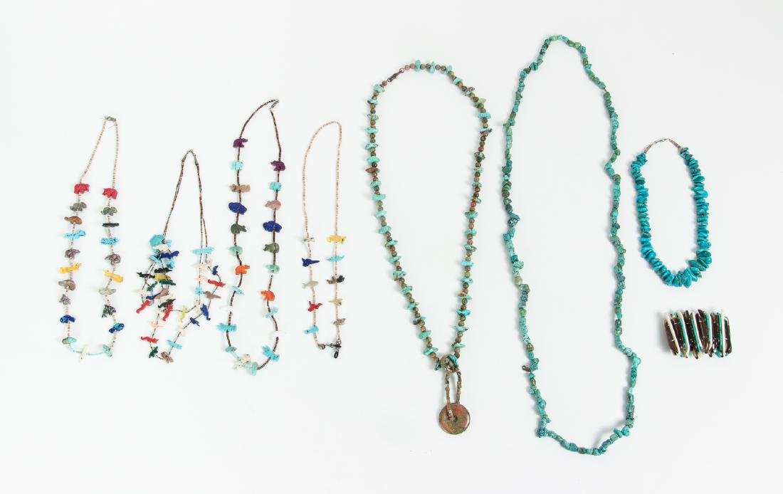 Large Group of Turquoise Jewelry Including Zuni