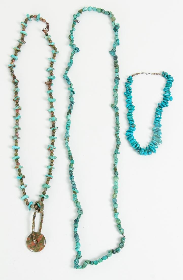 Large Group of Turquoise Jewelry Including Zuni - 2