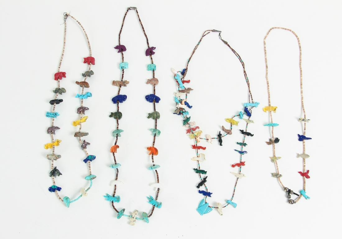 Large Group of Turquoise Jewelry Including Zuni - 7