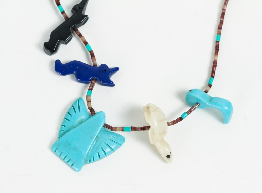 Large Group of Turquoise Jewelry Including Zuni - 9