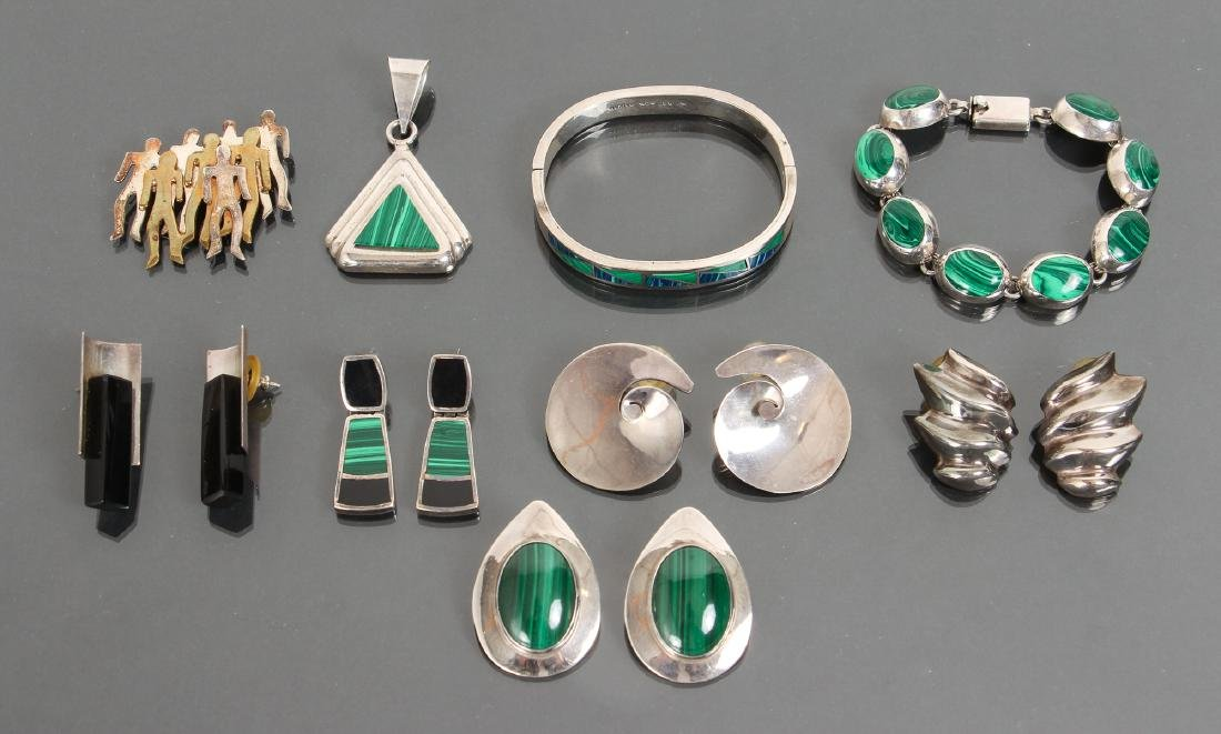 Large Group of Mexican Sterling Jewelry