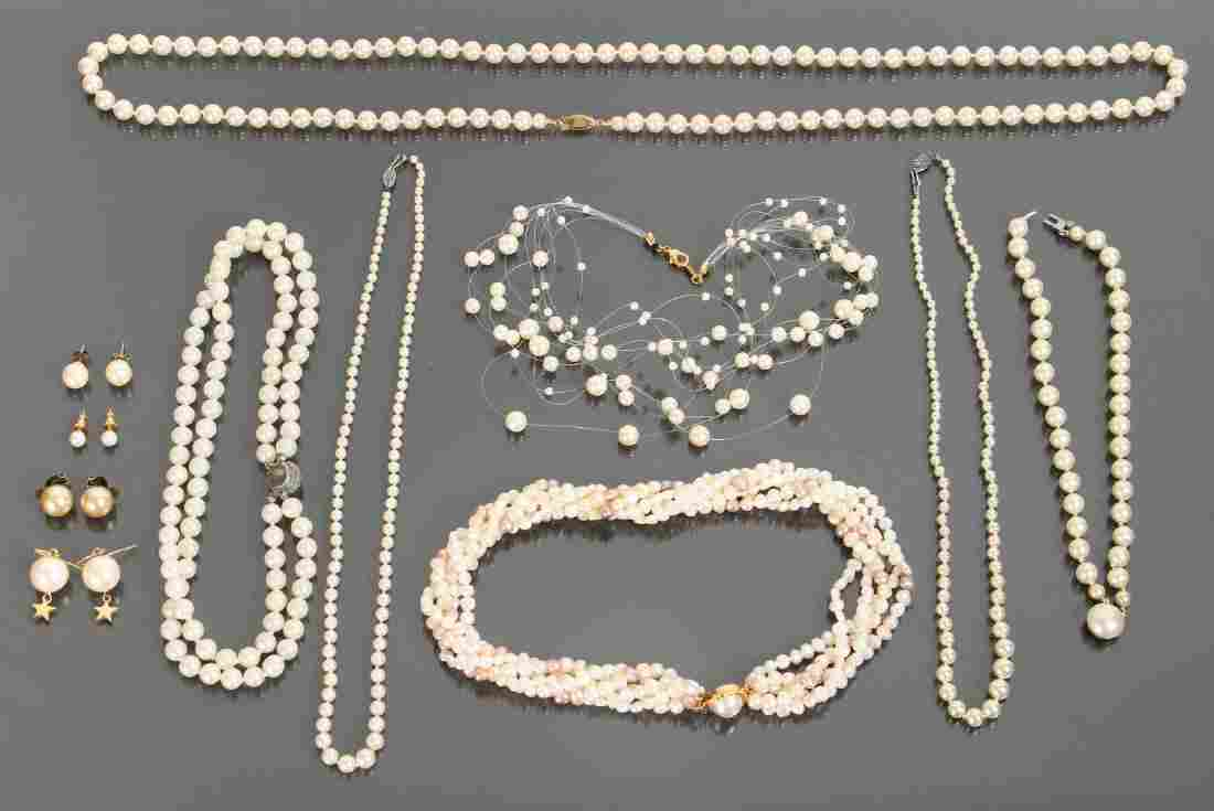 Large Group of Pearl Jewelry
