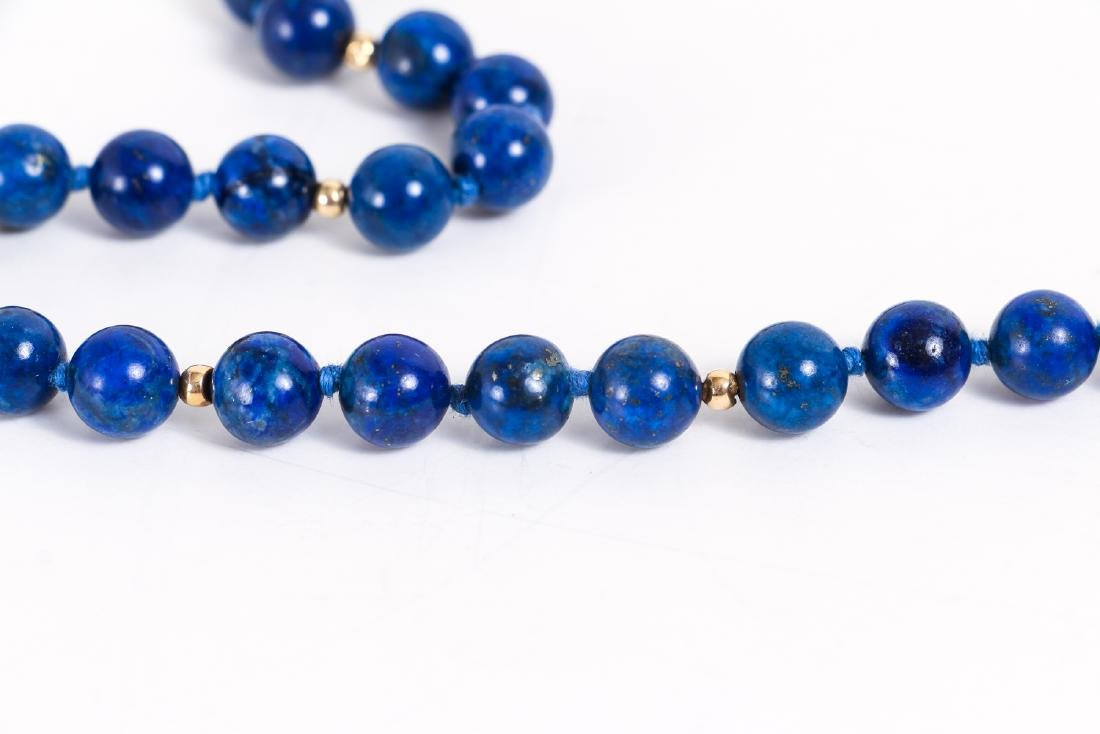 Lapis and Gold Bead Necklace - 2