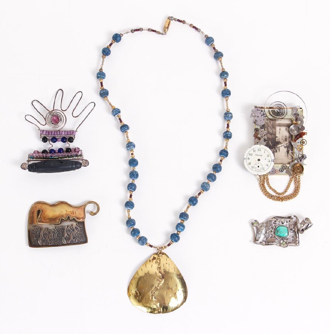 Five Pieces of Studio Jewelry