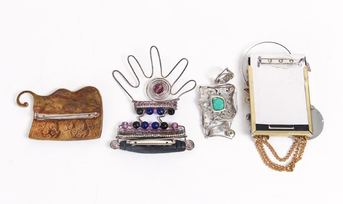 Five Pieces of Studio Jewelry - 9