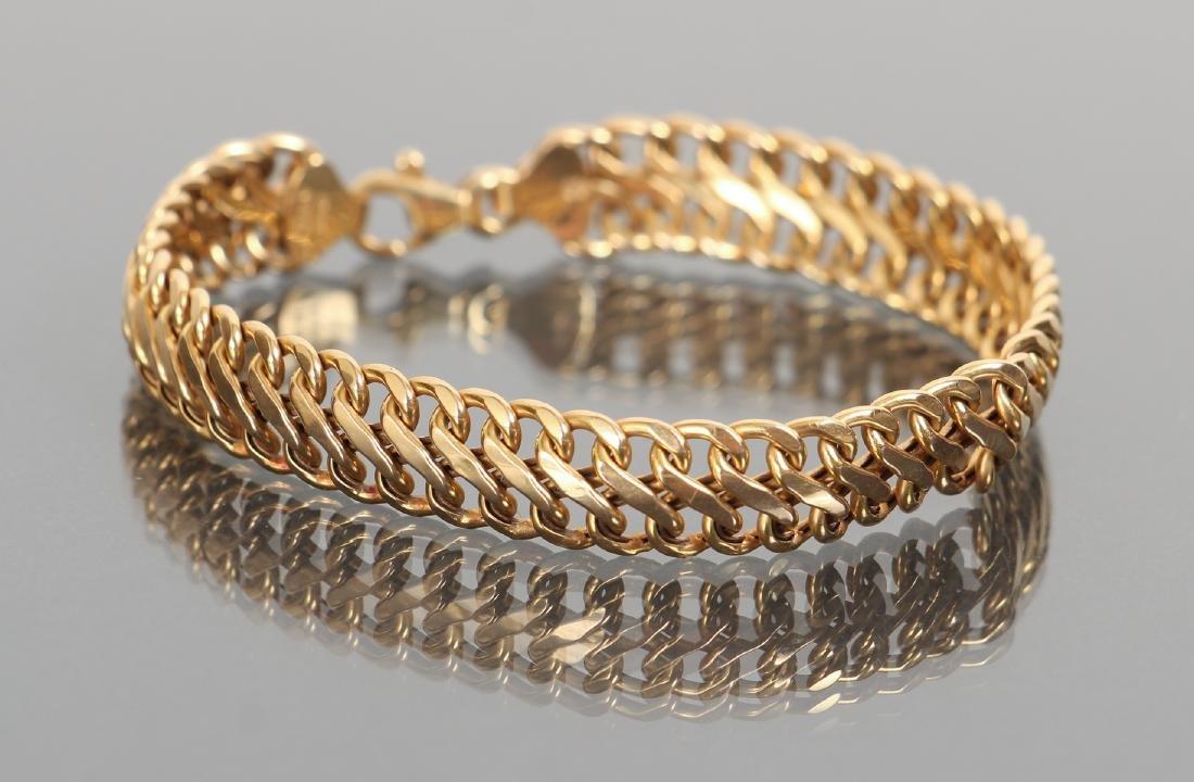 14 K Gold Link Bracelet