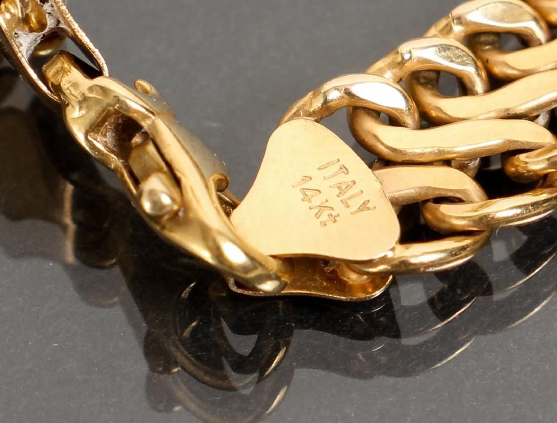 14 K Gold Link Bracelet - 2