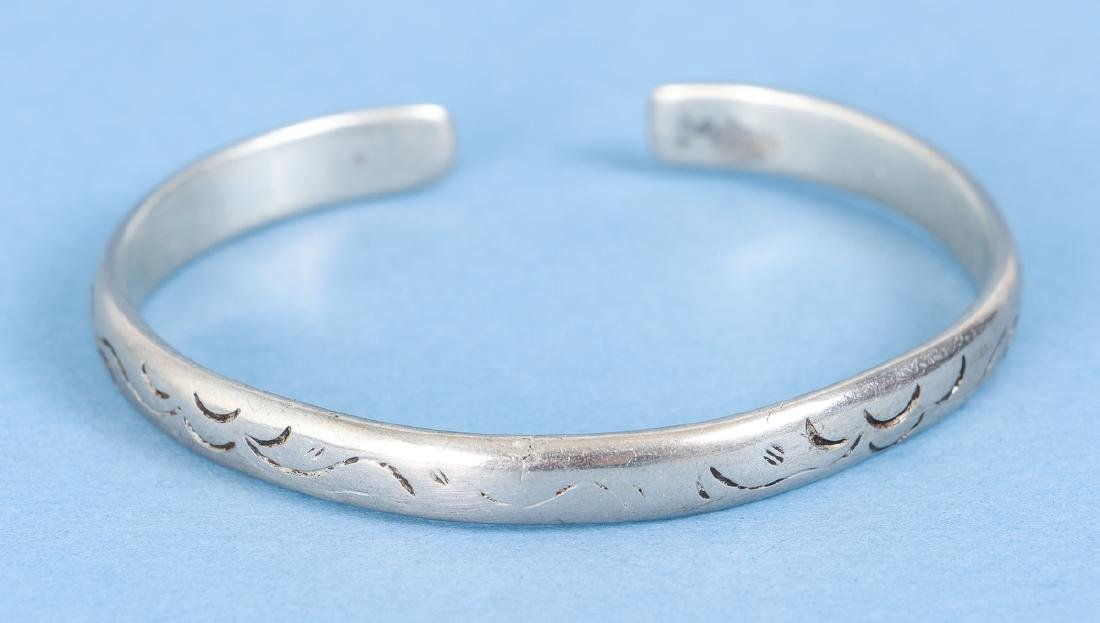 Group  of Antique Chinese Silver Bracelets - 2