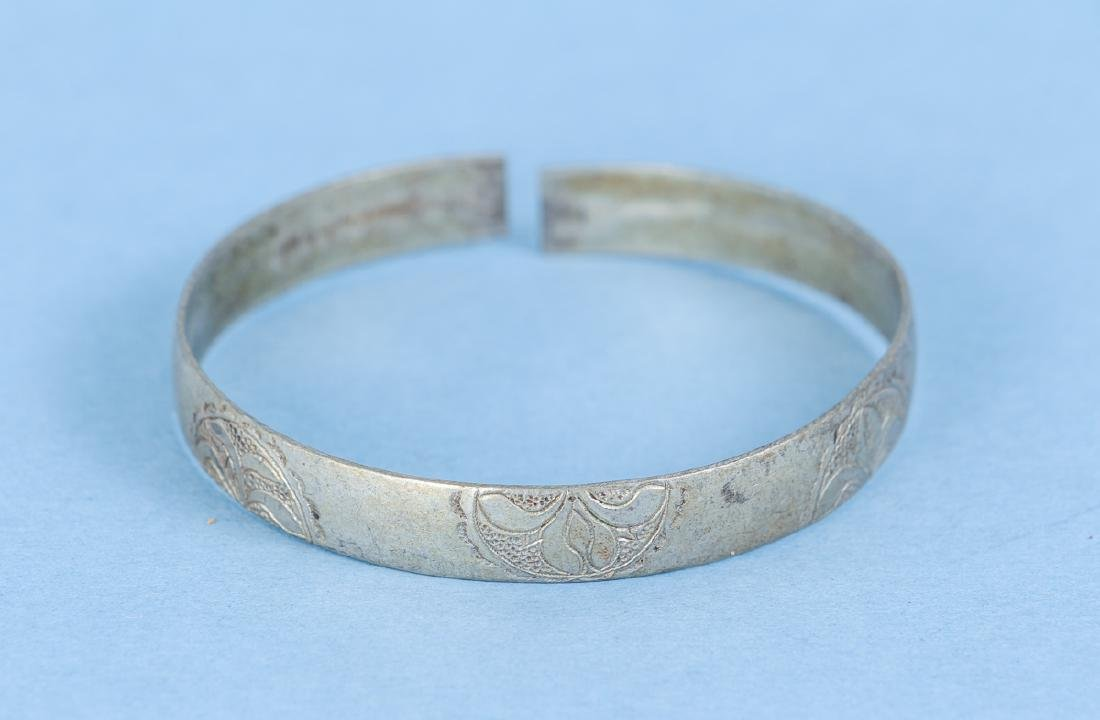 Group  of Antique Chinese Silver Bracelets - 7