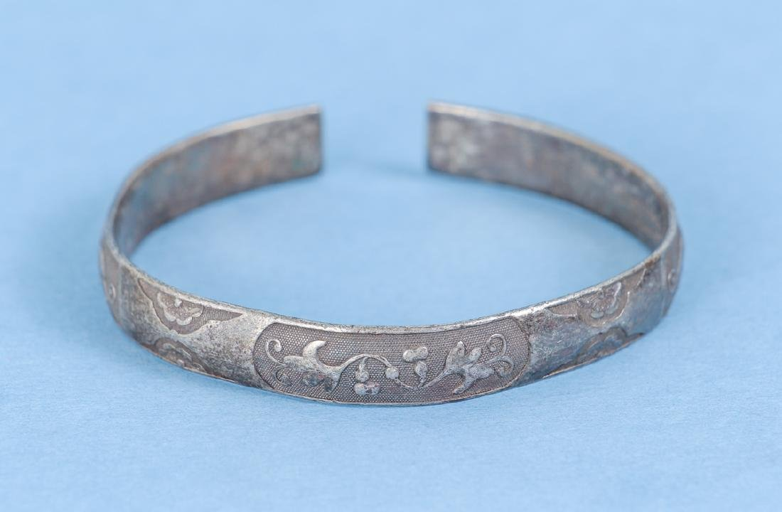 Group  of Antique Chinese Silver Bracelets - 3