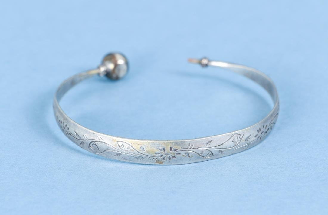 Group  of Antique Chinese Silver Bracelets - 4