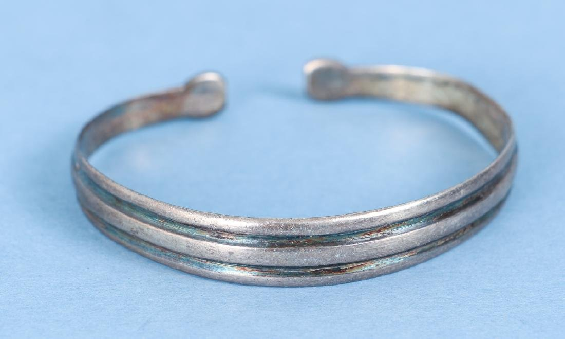 Group  of Antique Chinese Silver Bracelets - 5