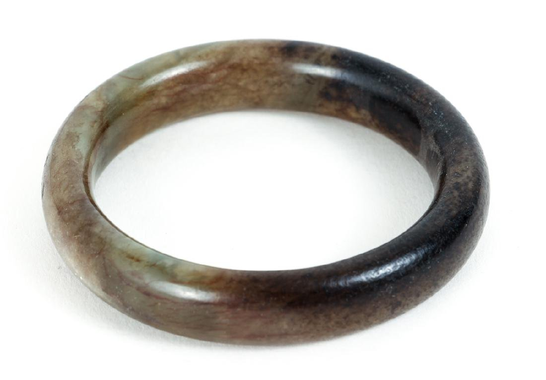 Ten Chinese Jade or Nephrite Bracelets - 6