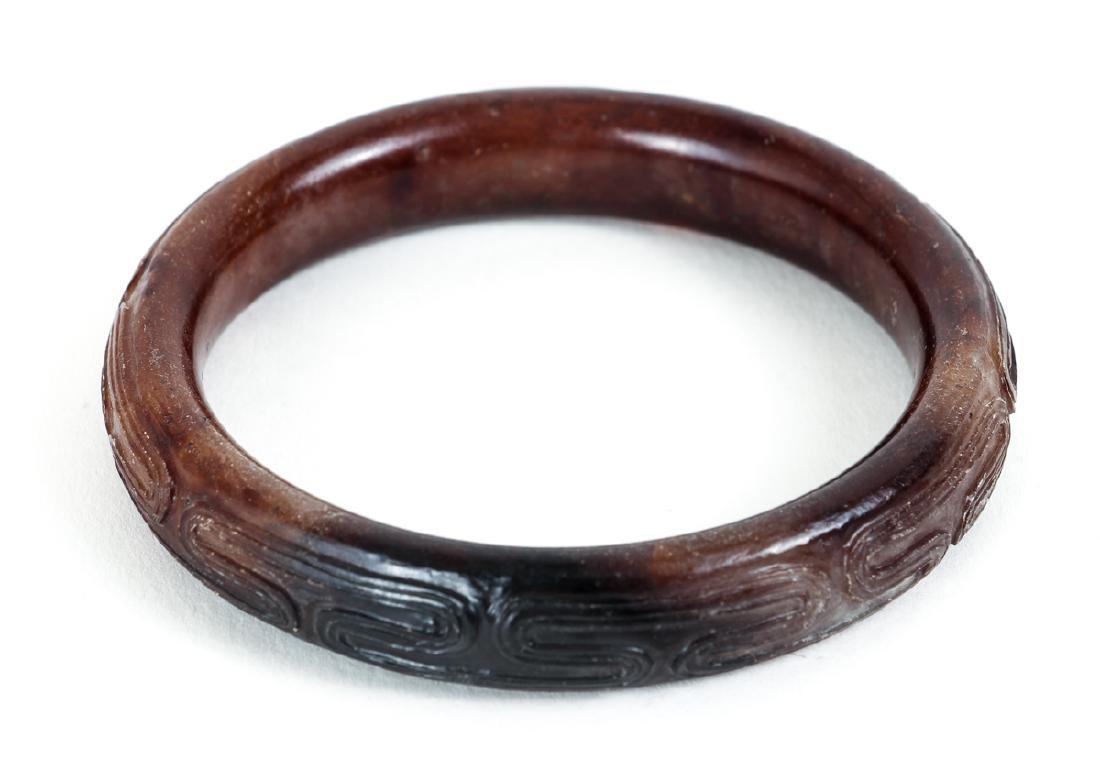 Ten Chinese Jade or Nephrite Bracelets - 9