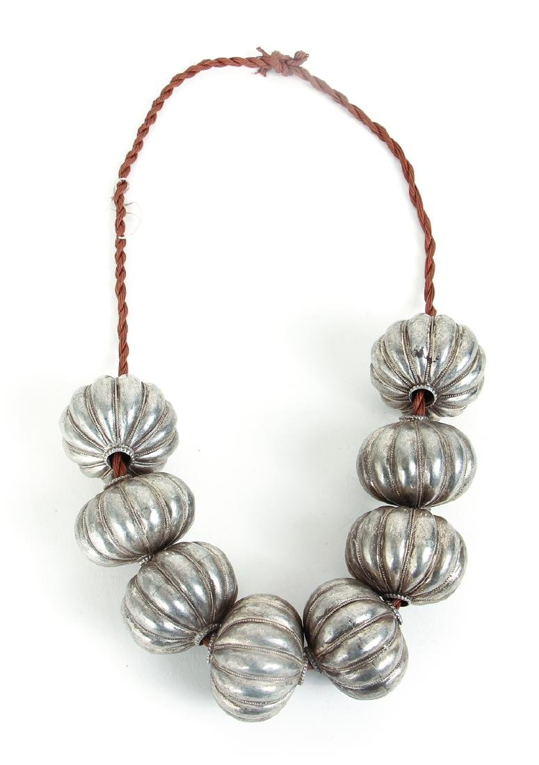 Group of Large Beads Plated in Gold and Silver - 3