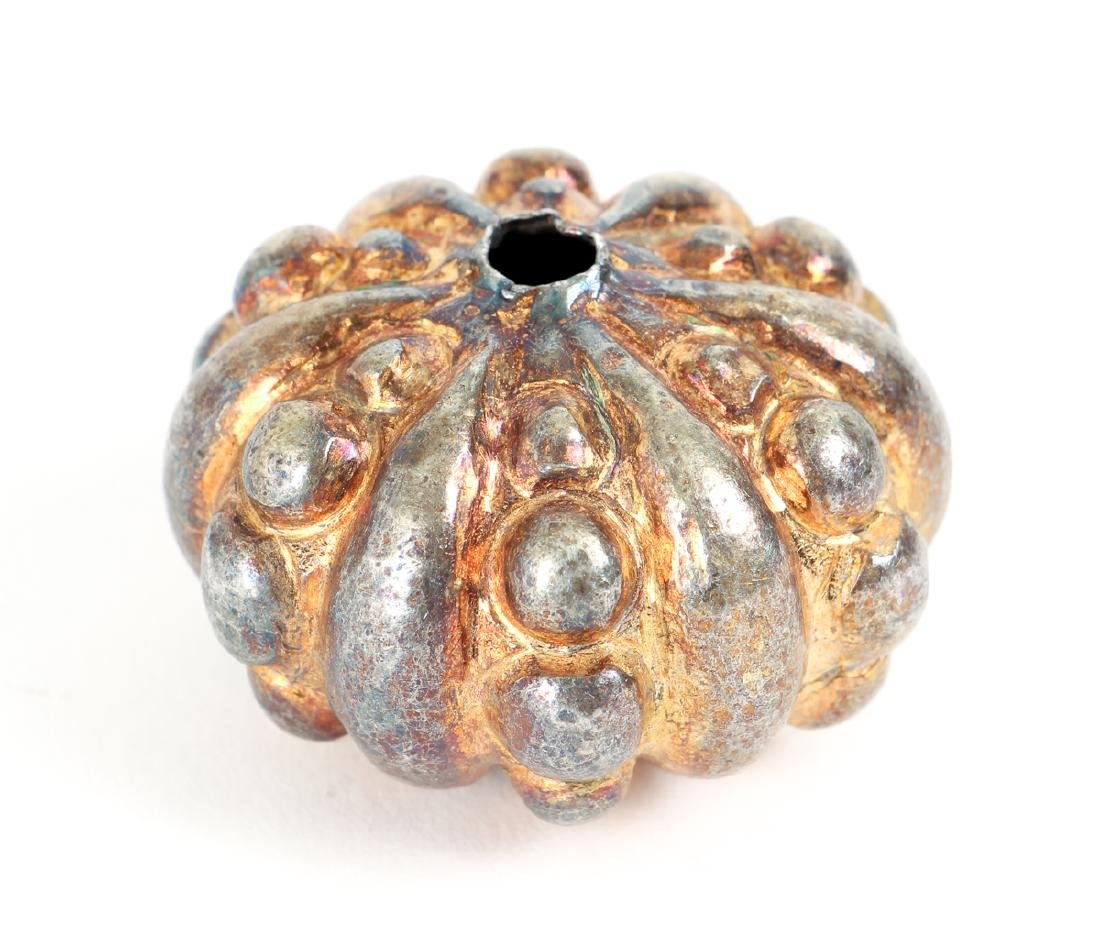 Group of Large Beads Plated in Gold and Silver - 9