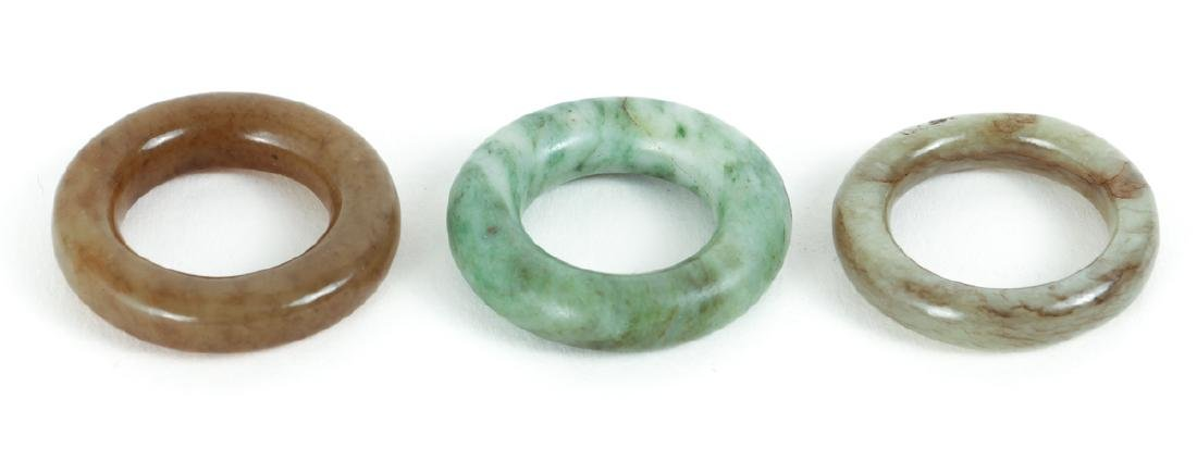 Large Group Chinese Jade and Nephrite Bi Discs - 5