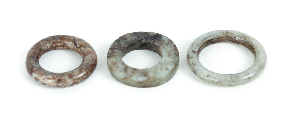 Large Group Chinese Jade and Nephrite Bi Discs - 6