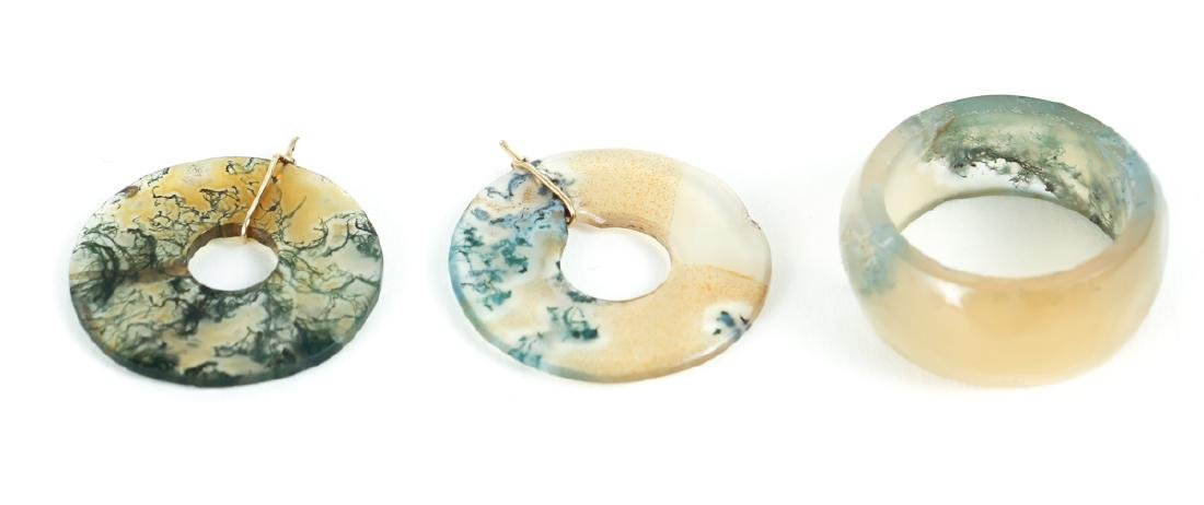 Large Group Chinese Jade and Nephrite Bi Discs - 9
