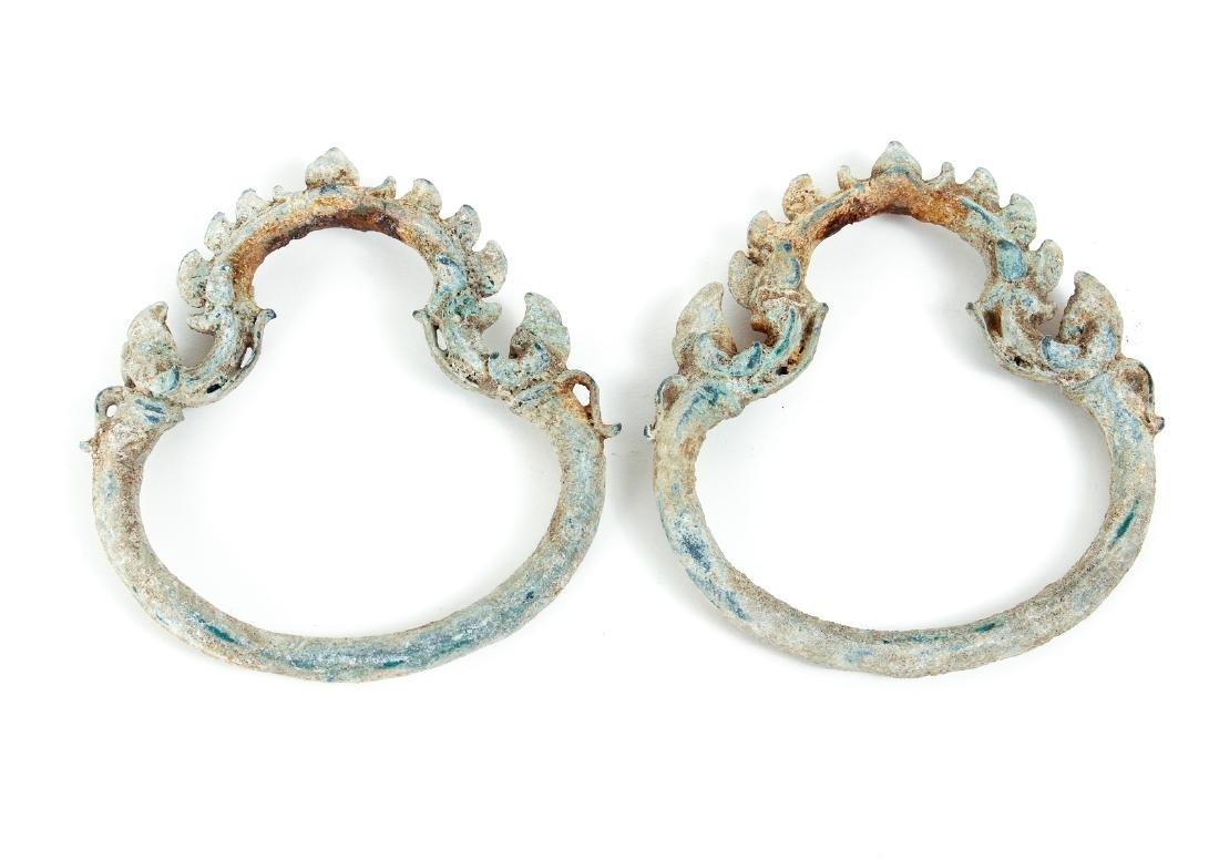 Five Antique Palanquin Hooks - 2