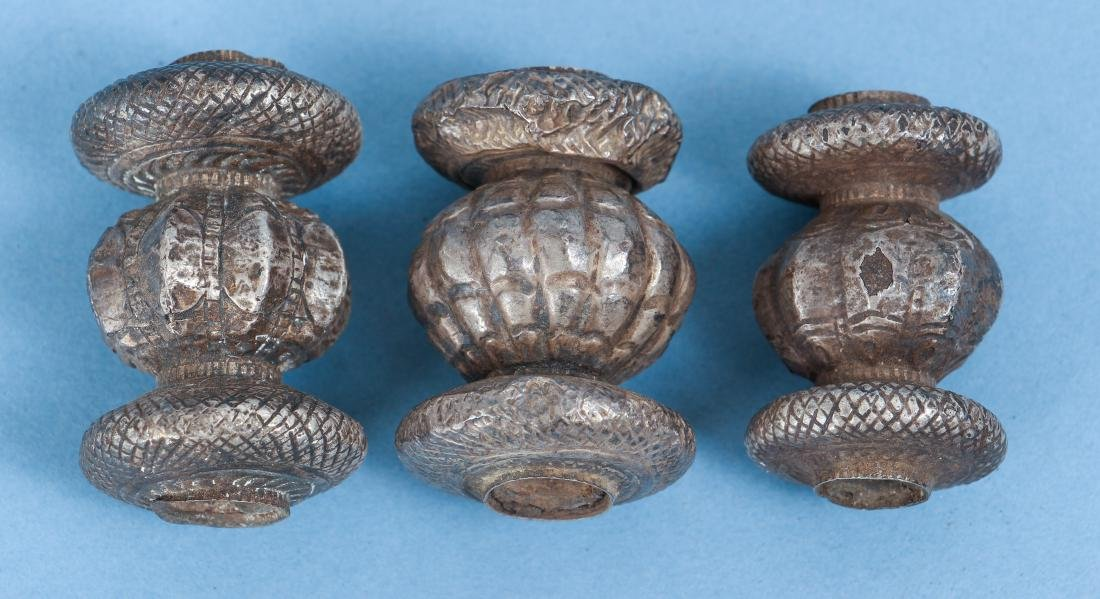 Large Group of Indian Antique Silver Buddhist Prayer - 7