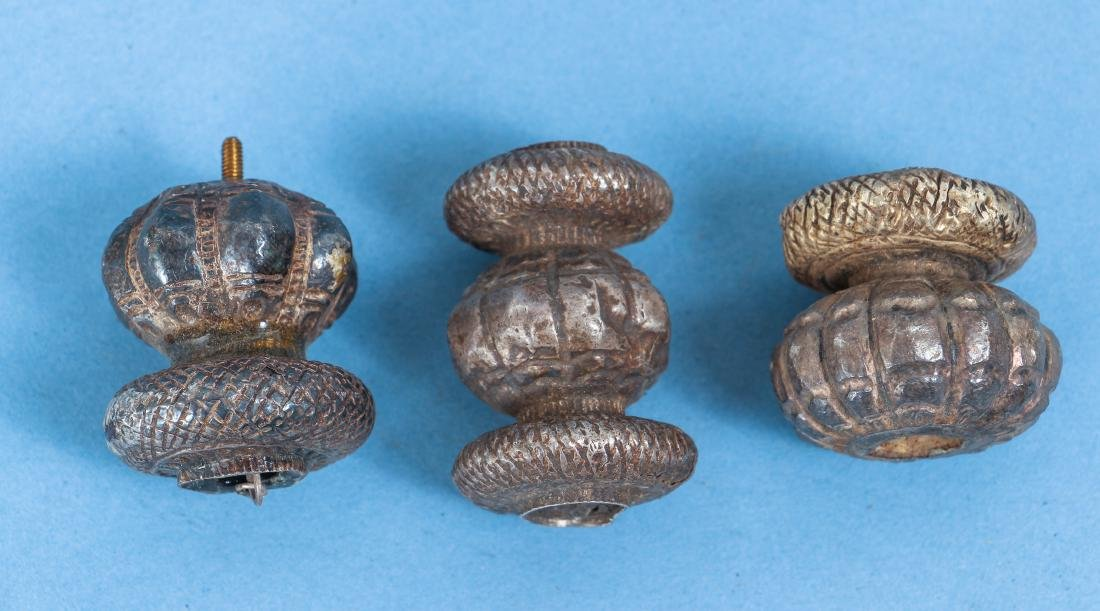 Large Group of Indian Antique Silver Buddhist Prayer - 9