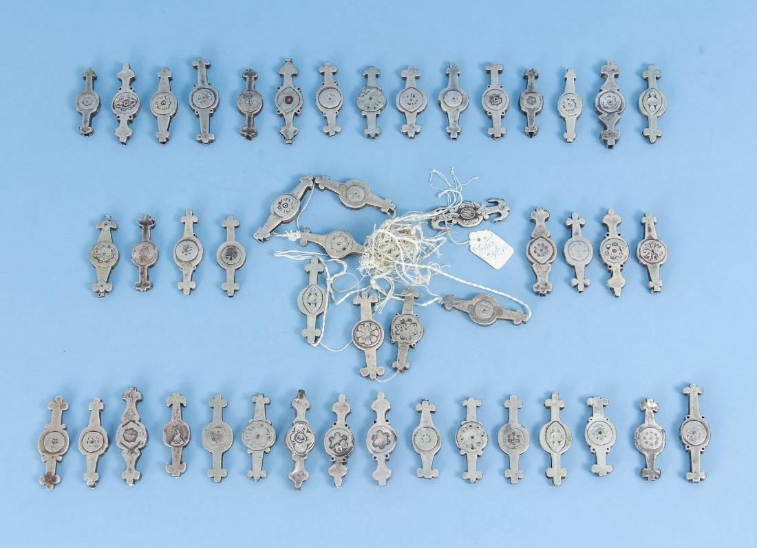 Large Group of Antique Pakistan Silver Accents