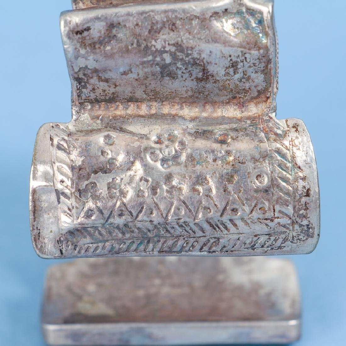 Ten Antique Indian and Chinese Silver Bracelets - 5