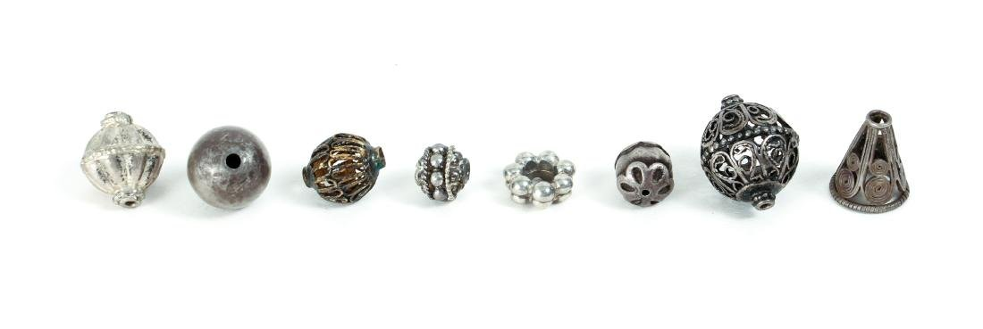 Group of Miscellaneous Vintage Silver Beads - 7