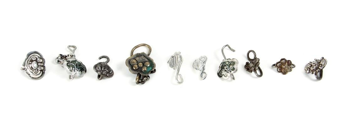 Group of Miscellaneous Vintage Silver Beads - 9