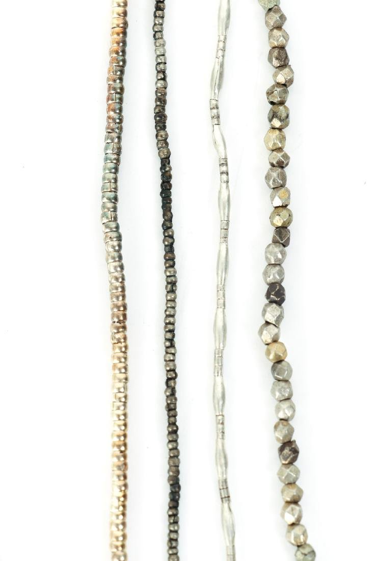 Large Group of Tiny Silver Washed Beads - 4